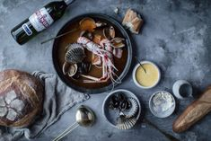 A French Supper: Saffron Bouillabaisse, Fennel Soup, and Flourless Chocolate Cake (Local Milk) Bouillabaisse Recipe, Fennel Soup, Local Milk, Flourless Chocolate Cakes, Fresh Seafood, Food Styling, Food Photography, Eat, Cooking