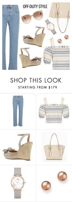 """""""Off-duty Style"""" by dressedbyrose ❤ liked on Polyvore featuring Current/Elliott, Lemlem, MICHAEL Michael Kors, Calvin Klein, CLUSE, Bloomingdale's, Tom Ford, ootd and polyvoreeditorial"""