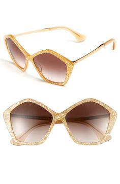 eab5efac28 Miu Miu  Culte Collection  57mm Geometric Sunglasses Cool Sunglasses