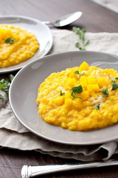 Creamy Golden Risotto: This colorful bright risotto is mixed with ...