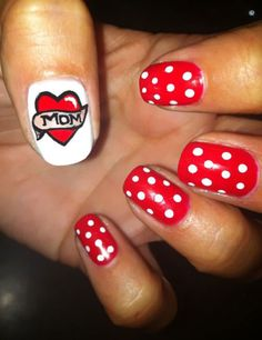 15+ Best Happy Mothers Day Nail Art Designs, Ideas, Trends & Stickers 2015