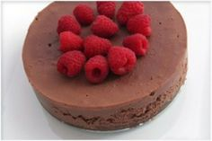 Raw Chocolate Mousse  Ingredients:  -1/4 cup cocao powder  -2 ripe avocados (this is what makes it creamy!)  -3/4 cup agave  -3 tablespoons coconut oil  -1 tablespoon vanilla extract  -dash of himalayan salt  -garnish with raspberries     Action:   1.Add all ingredients to a blender and blend! Wahla! I like to keep some small chunks of avocado in it, and then when I eat the mousse I get surprises of what tastes like smooth creamy chocolate pieces!