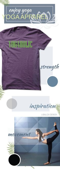 YogaHolic Women Yoga TShirt / Ladies Tee.   #Fitness #Exercise #yoga # #yogadesign #chakra #yogalover #energy #inspiration #yogacasual #workout #inhale #exhale #breathe #meditation #women #fashion #Sunfrog #Lisaliza #giftideas #health #lifestyle