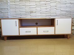 Gorgeous classic solid white TV unit from Eco furniture design - Top furniture makers in South Africa