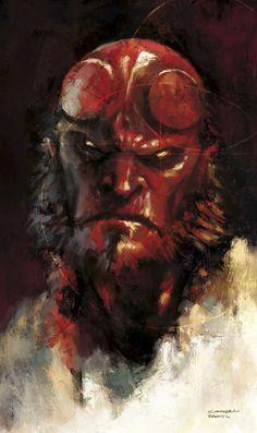 hellboy concept art by daniel comerci Comic Book Characters, Comic Character, Comic Books Art, Comic Art, Book Art, Hellboy Tattoo, Hellboy 1, Marvel E Dc, Dc Comics