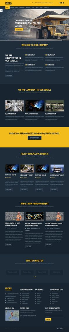 Website Design Best Construction WordPress Themes of 2015 … Design Responsive, Web Ui Design, Best Web Design, Web Design Trends, Page Design, Website Layout, Web Layout, Layout Design, Website Design Inspiration