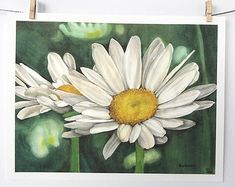 gerbera daisies art print daisy painting by favoriteflower on Etsy
