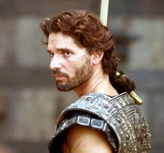 Eric Bana's Hector is my favorite character in the movie, with a slight edge over Sean Bean as Odysseus.  In contrast to Brad Pitt who played Achilles as a laughable egomaniac, and Orlando Bloom who played Paris as a selfish weakling, Hector is honorable, and it's not in the least bit corny or sentimental.