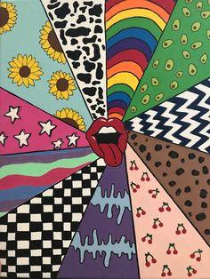 Simple Canvas Paintings, Small Canvas Art, Mini Canvas Art, Diy Canvas, Hippie Wallpaper, Retro Wallpaper, Cartoon Wallpaper, Soft Wallpaper, Galaxy Wallpaper