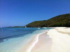Pristine white sand beaches at Palomino Island.  El Conquistador Resort & Las Casitas Village   Puerto Rico ElConResort.com
