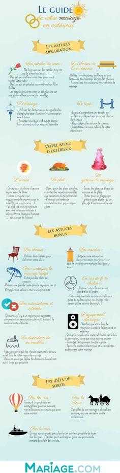 Organiser un mariage en extérieur : place à l'infographie qui saura vous guider | Mariage.comMariage.com
