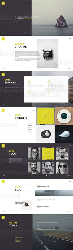 Buy Antica — Multipurpose Business Agency & Personal Portfolio PSD Template by torbara on ThemeForest. Antica is a simple and interesting PSD template for Business agency, design studio, web-development company or freel. Web Design Trends, Layout Design, Layout Web, Design De Configuration, Interaktives Design, Web Ui Design, Website Layout, Flat Design, Design Agency Website