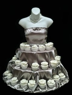 SILVER Couture Cupcake Stand for weddings showers by theEventFairy, $200.00