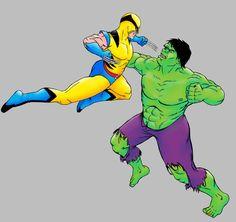 #Hulk #Fan #Art. (Hulk vs. Wolverine WIP) By:WiREonDEViANTART. ÅWESOMENESS!!!™ ÅÅÅ+