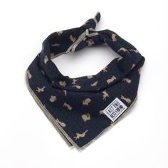 NEW! This dog bandana by East End Best Friend is handmade in Hackney, London, using a Japanese blue bunny rabbit print in soft cotton. It's the perfect piece of laid back neckwear for your hip hound.