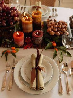 Apparecchiare la tavola in autunno. Perfetta! #semplice #idea #vivisimply