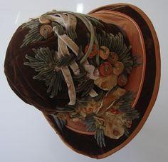 Superb Velvet Hat w/ Ornate Design: