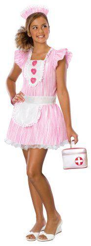 Nouveau Nurse Halloween Costume S Sexy Nurse Costume - Rubies 886162 NWT 883028616251 Nurse Halloween Costume, Sexy Nurse Costume, Tween Costumes, Fancy Costumes, Costume Wigs, Costume Shop, Pink And White Dress, Coupon, Nursing Dress