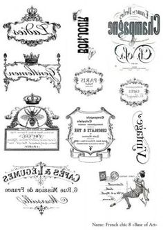 Discover recipes, home ideas, style inspiration and other ideas to try. Vintage Diy, Vintage Labels, Vintage Images, Foto Transfer, Transfer Paper, Collages D'images, French Typography, Etiquette Vintage, Style Retro