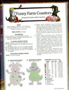 FUNNY FARM COASTERS 2/3