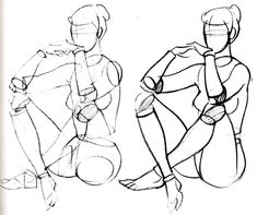 corps_accroupi_cylindre Figure Sketching, Figure Drawing Reference, Anatomy Reference, Art Reference Poses, Anatomy Drawing, Body Drawing, Anatomy Art, Drawing Poses, Drawing Tips