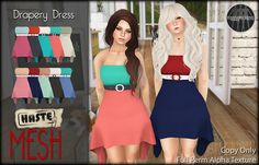 [Haste] Drapery Dress @ FaMESHed by Auston Harbour - [Haste], via Flickr