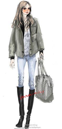 Xunxun-Missy fashion illustration #fashion #illustration #fashionillustration