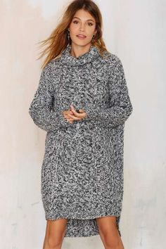 Deal With Knit Sweater Dress - Sale
