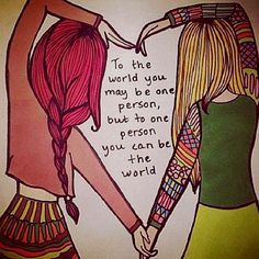 Cute pic idea for Meg and Kenzie. Best friends.