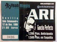 Entrada de Ari Old School Rap. Año:1999