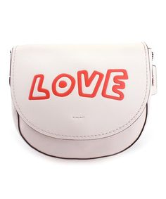 Chalk 'Love' Leather Crossbody Bag #zulily #zulilyfinds