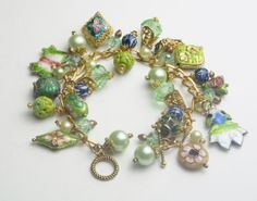 Vintage Cloisonné Enamel Crystals Faux by WeLoveVintageJewelry, $30.00