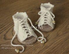 Crochet baby sandalsgladiator by EditaMHANDMADE on Etsy