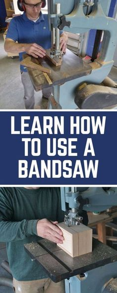 Cool Woodworking Tips - Learn To Use A Band Saw - Easy Woodworking Ideas, Woodworking Tips and Tricks, Woodworking Tips For Beginners, Basic Guide For Woodworking - Refinishing Wood, Sanding and Staining, Cleaning Wood and Upcycling Pallets - Tips for Wooden Craft Projects http://diyjoy.com/diy-woodworking-ideas #woodworkingtips #woodworkingideas #diywoodprojects
