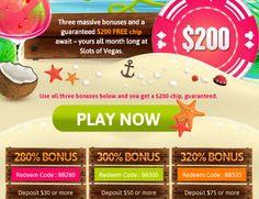 July Promo Bonus Coupon + $200 Free | Slots of Vegas Casino