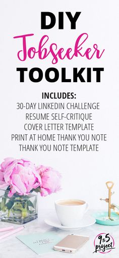 If you're looking for some guidance on how to tweak your career documents, then the DIY Jobseeker Toolkit is exactly what you need! These crucial templates and guides help you get your materials in tip top shape. 30-day LinkedIn challenge course, electronic cover letter template, resume self-critique form, a thank you note you can print on cardstock at home and sample language to use in the note!