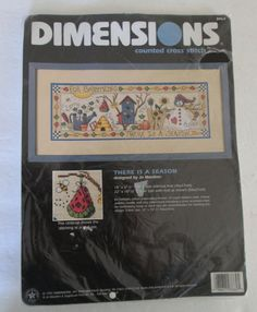 Counted Cross Stitch Kit Four Seasons Design Sealed by RetroExchange on Etsy