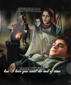 This poster created has Harry and Hermione longing for one another's love. The quotes express their affection for each other. Its shows the split between fans where some wanted Harry and Hermione to be the endgame.
