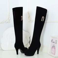 New Warm Winter Casual Shoes Black Suede Stiletto Knee High Women's Round Toe Martin Boots Side Zipper     Tag a friend who would love this!     FREE Shipping Worldwide     Buy one here---> http://onlineshopping.fashiongarments.biz/products/new-warm-winter-casual-shoes-black-suede-stiletto-knee-high-womens-round-toe-martin-boots-side-zipper/