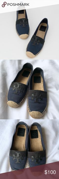 490d44c15213 Tory Burch Weston Flat Espradrille Colorblock Superb condition Weston style  Navy black color block Can be