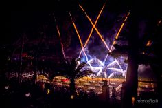 Amazing fireworks on the beach at the Villa Sant'Andrea. Sicily wedding!