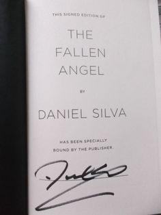 Daniel Silva ~ The Fallen Angel ~ Signed! ~ 1st/1st ~ HC/DJ