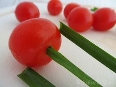 Tulip Tomatoes - Finding Time To Fly Veggie Appetizers, Easter Appetizers, Appetizer Recipes, Appetizer Ideas, Dinner Recipes, Easter Recipes, Great Recipes, Cream Cheese Dips, Recipe Directions