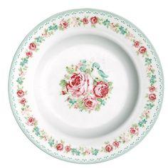 GreenGate Stoneware Small Plate June White D 15 cm