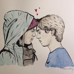 Even and Isak from SKAM (sold, to a danish foodblogger. Pretty exciting that I've sold my illustrations for the first time, twice in just a few weeks!)