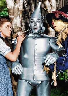 Wizard of Oz. joe can be the Tin Man, I'll be Dorothy, and Herc can be a scarecrow or the lion!