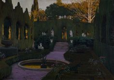 Gardens of Monforte, 1917. Santiago Rusinol (Spanish, 1861-1931). Oil on canvas; 91 x 129.5 cm. Coleccion BBVA 128.