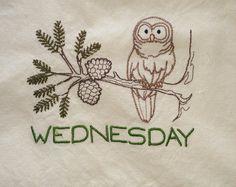 Owl Tea Towel by NooksAndGrannys on Etsy