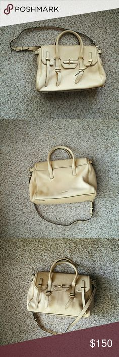 *Sale today only* Rebecca minkoff jules satchel Light gold/cream color, not brown. The first and last picture show the true color. I bought it from Nordstrom rack this summer. The regular size one, not the mini. Beautiful colorful. Great for work and casual event. I have used it on and off for a few months. Good condition. Questions are welcomed. I couldn't find the dust bag. Rebecca Minkoff Bags