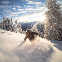 Slashing some backcountry pow in the Austrian Alps! Heavenly #GoPro photography by @coberschneider // Your source for GoPro, Drone & Smartphone Camera & Tech Gear // www.GoWorx.com